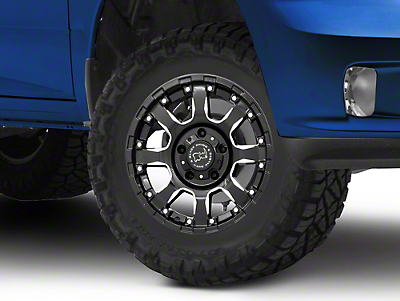 Black Rhino Sierra Gloss Black Milled 5-Lug Wheel - 17x9 (02-18 RAM 1500, Excluding Mega Cab)