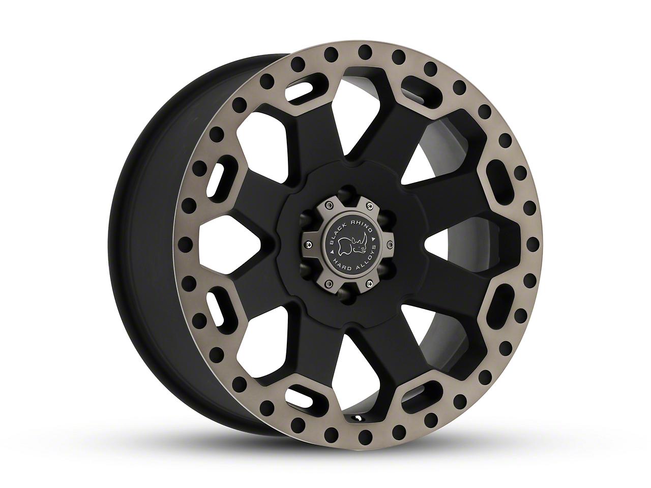 Black Rhino Warlord Matte Black Machined 5-Lug Wheel - 20x9 (02-18 RAM 1500, Excluding Mega Cab)