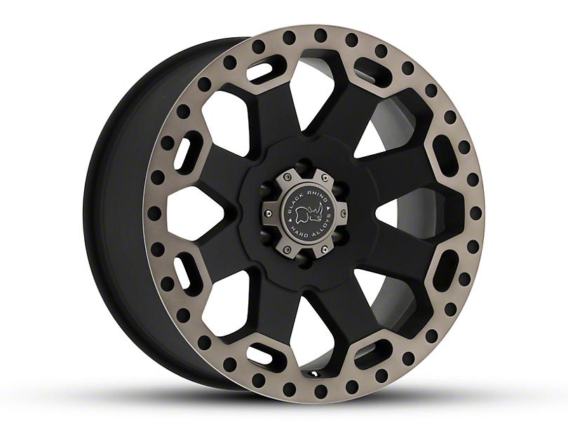 Black Rhino Warlord Matte Black Machined 5-Lug Wheel - 17x9; 0mm Offset (02-18 RAM 1500, Excluding Mega Cab)