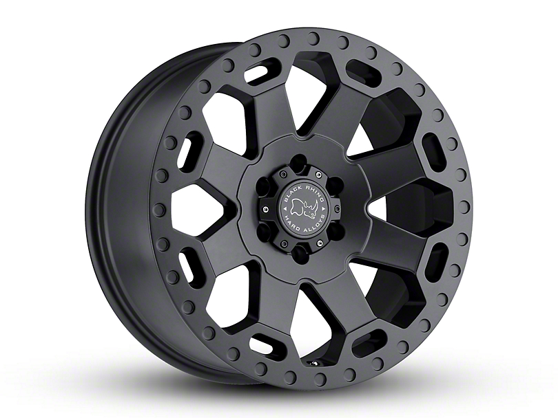 Black Rhino Warlord Matte Gunmetal 5-Lug Wheel - 17x9 +00mm Offset (02-18 RAM 1500, Excluding Mega Cab)