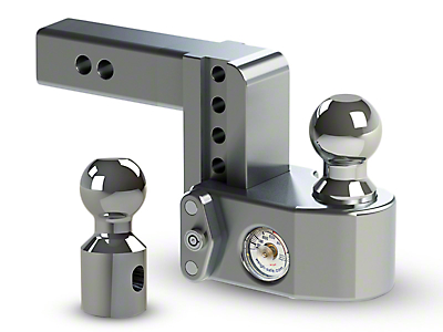 Weigh Safe 2 in. Receiver Hitch Adjustable Ball Mount w/ Built-In Scale - 4 in. Drop Hitch (02-19 RAM 1500)