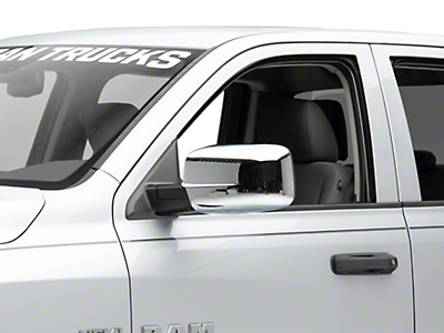 Black Horse Off Road Full Mirror Covers - Chrome (09-18 RAM 1500)
