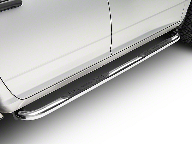 Smittybilt 3-Inch Sure Side Step Bars; Stainless Steel (09-18 RAM 1500 Quad Cab, Crew Cab)