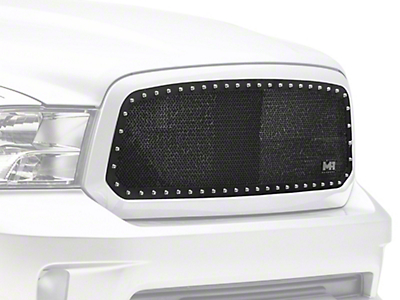 Smittybilt M1 Wire Mesh Upper Grille Insert - Satin Black (13-18 RAM 1500, Excluding Rebel)