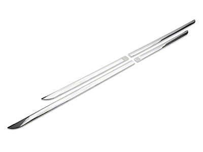 Black Horse Off Road Side Moldings - Chrome (09-18 RAM 1500 Quad Cab, Crew Cab)