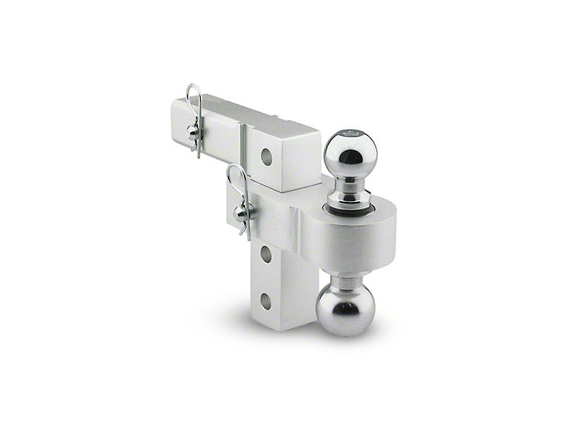 Smittybilt 2 in. Receiver Hitch Adjustable Ball Mount w/ 2 in. & 2-5/16 in. Balls - 6 in. Drop Hitch (02-19 RAM 1500)