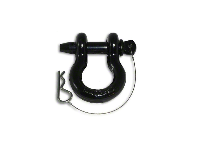 Smittybilt 7/8 in. 6.5 Ton D-Ring Shackle w/ Locking Pin - Black