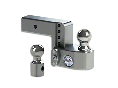 Weigh Safe 2.5 in. Receiver Hitch Adjustable Ball Mount w/ Built-In Scale - 6 in. Drop Hitch (02-19 RAM 1500)