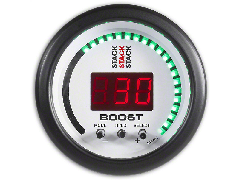 Auto Meter Stack Boost Controller Gauge - White (02-19 RAM 1500)