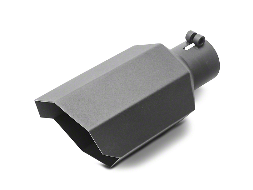 Proven Ground 5 in. Black Stagger Cut Exhaust Tip - 2.75 in. Connection (Universal Fitment)