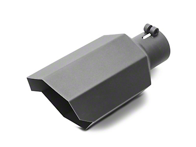 Barricade 5 in. Stagger Cut Exhaust Tip - Black - 2.75 in. Connection (02-19 RAM 1500)