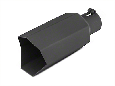 Barricade 5 in. Big Mouth Exhaust Tip - Black - 3.0 in. Connection (02-19 RAM 1500)
