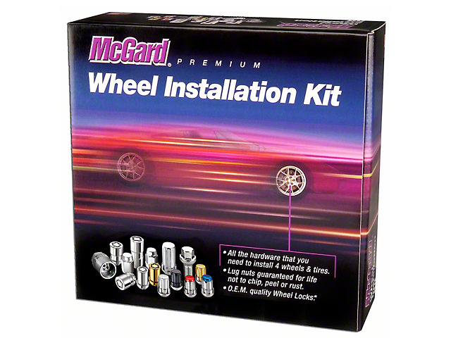McGard Chrome 5-Lug Wheel Installation Lug Nut Kit - 14mm x 1.5 (12-18 RAM 1500)