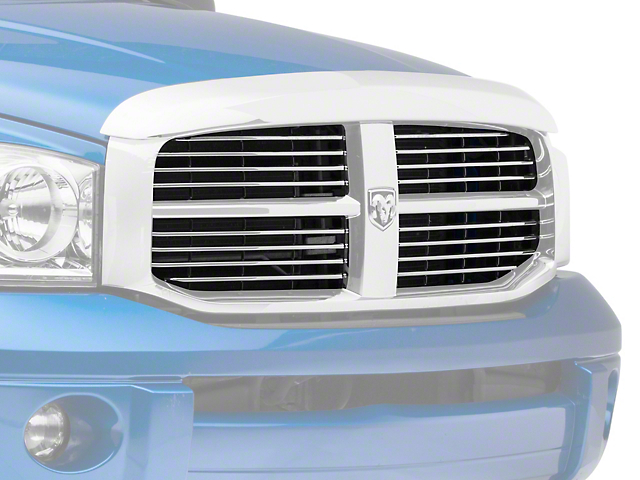 RedRock 4x4 Replacement Insert for Factory Grille Housing; Chrome (06-08 RAM 1500)