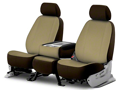 Fia Custom Fit Poly-Cotton Front Seat Cover - Taupe (09-18 RAM 1500)