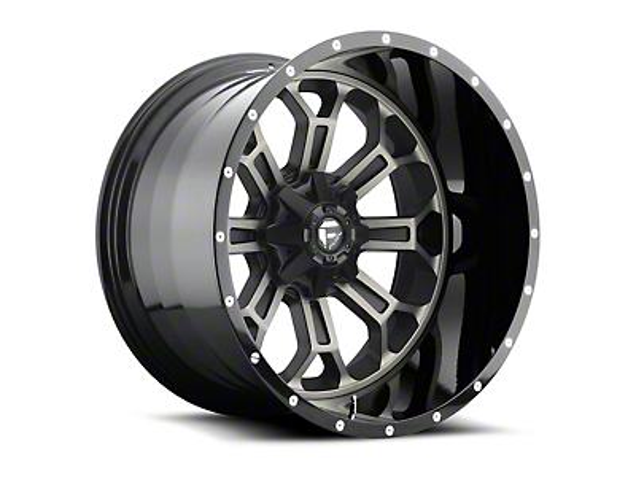 Fuel Wheels Crush Matte Black Machined 5-Lug Wheel - 20x12 (02-18 RAM 1500, Excluding Mega Cab)
