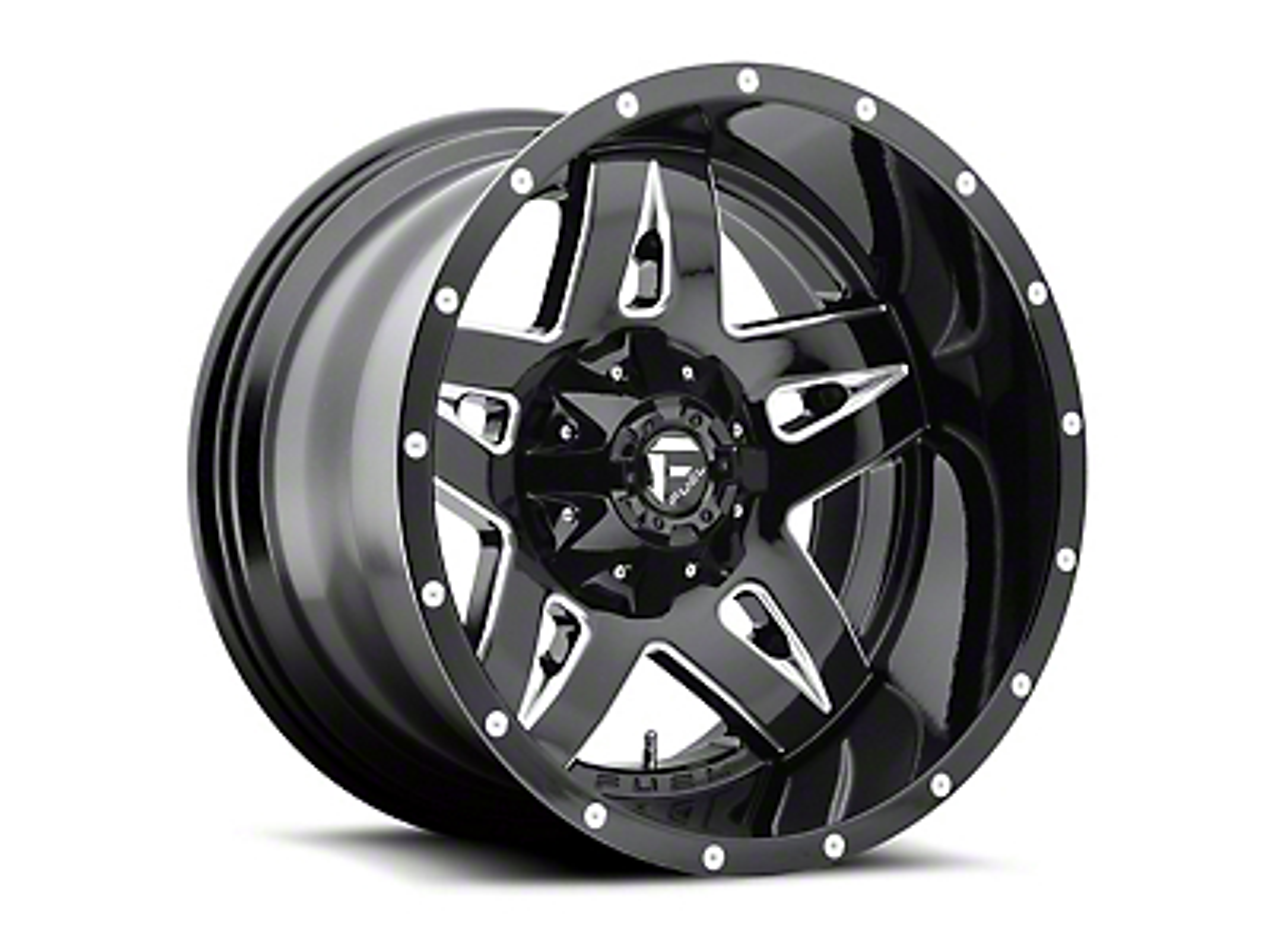Fuel Wheels Full Blown Black Milled 5-Lug Wheel - 18x9 (02-18 RAM 1500, Excluding Mega Cab)