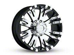Pro Comp Wheels 01 Series Gloss Black Machined 8-Lug Wheel; 18x9.5; -19mm Offset (06-08 RAM 1500 Mega Cab)