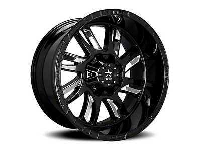 RBP 69R Swat Black w/ Chrome Inserts 5-Lug Wheel - 24x14 (02-18 RAM 1500, Excluding Mega Cab)