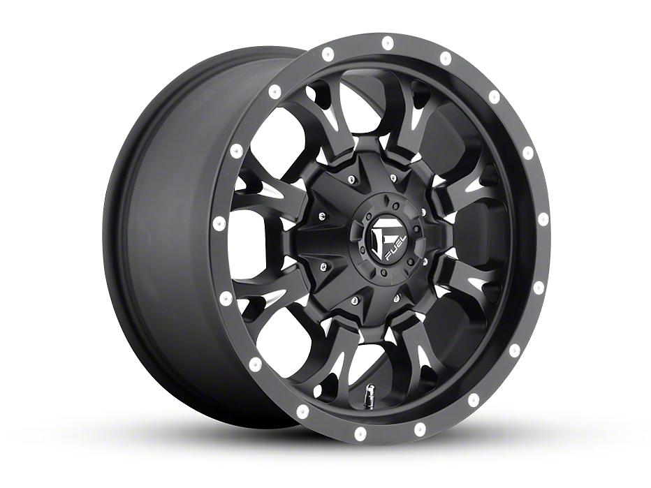 Fuel Wheels Krank Black Milled 5-Lug Wheel - 17x9 (02-18 RAM 1500, Excluding Mega Cab)