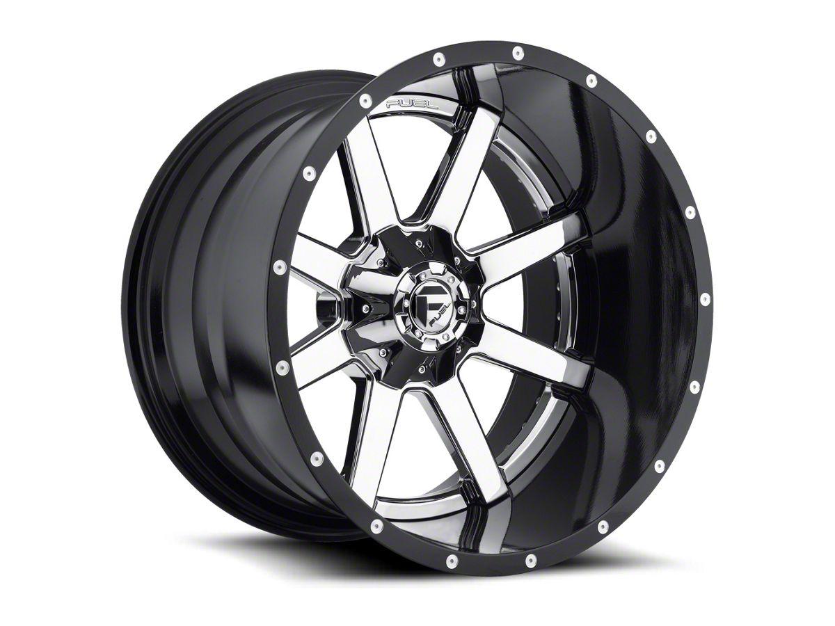 Fuel Wheels Ram Maverick 2 Piece Chrome 5 Lug Wheel 20x12 44mm Offset D26020207047 09 18 Ram 1500