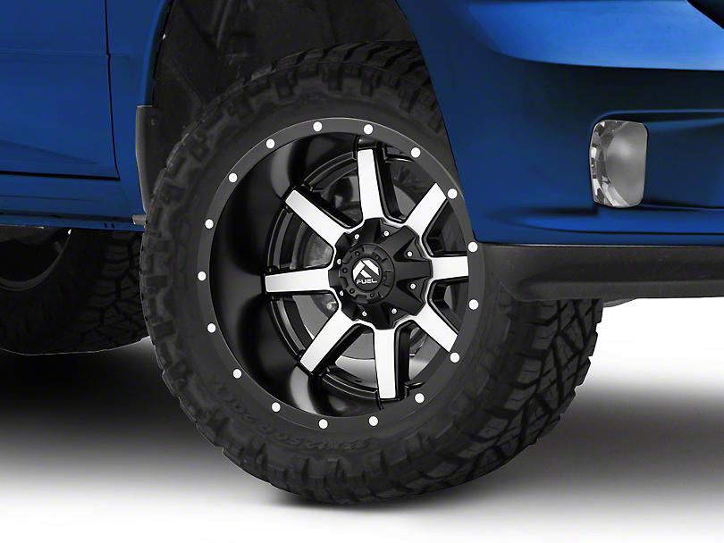 Fuel Wheels Maverick Black Machined 5-Lug Wheel - 20x12 -44mm Offset (02-18 RAM 1500, Excluding Mega Cab)