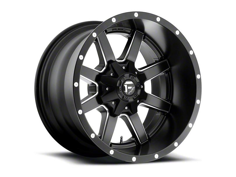 Fuel Wheels Maverick Black Milled 5-Lug Wheel - 18x12 -44mm Offset (02-18 RAM 1500, Excluding Mega Cab)