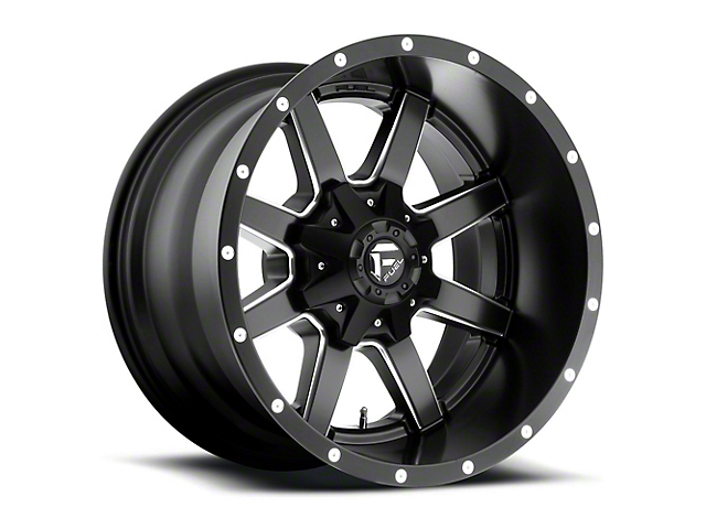 Fuel Wheels Maverick Black Milled 5-Lug Wheel - 18x12; -44mm Offset (02-18 RAM 1500, Excluding Mega Cab)