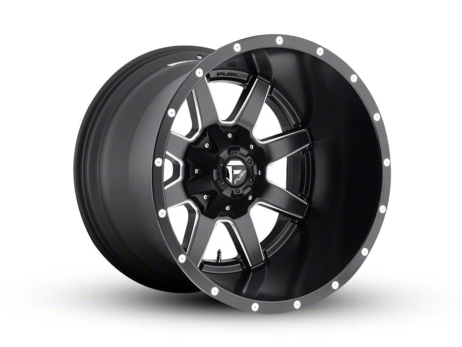 Fuel Wheels Maverick Black Milled 5-Lug Wheel - 24x10 (02-18 RAM 1500, Excluding Mega Cab)