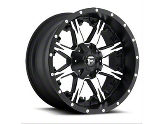 Fuel Wheels NUTZ Black Machined 5-Lug Wheel - 22x12 (02-18 RAM 1500, Excluding Mega Cab)