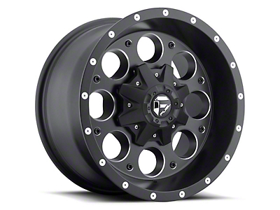Fuel Wheels Revolver Black Milled 5-Lug Wheel - 17x9 (02-18 RAM 1500, Excluding Mega Cab)