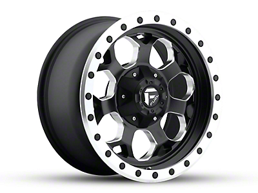 Fuel Wheels Savage Black Milled 5-Lug Wheel - 17x8.5 (02-18 RAM 1500, Excluding Mega Cab)