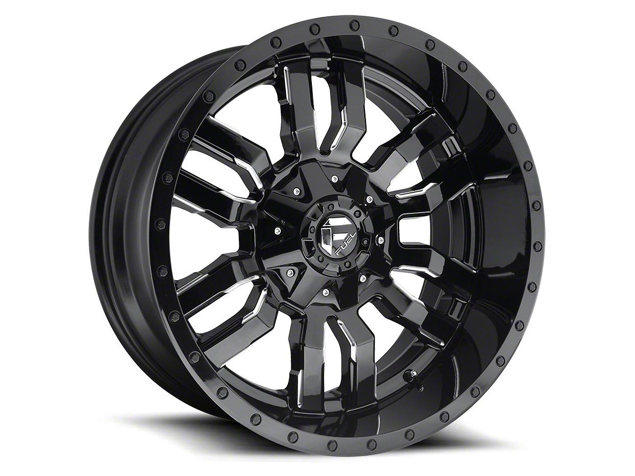 Fuel Wheels Sledge Gloss Black Milled 5-Lug Wheel - 22x12 (02-18 RAM 1500, Excluding Mega Cab)