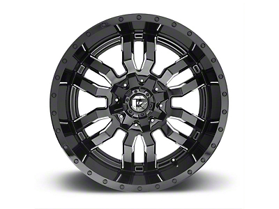 Fuel Wheels Sledge Gloss Black Milled 5-Lug Wheel - 20x9 (02-18 RAM 1500, Excluding Mega Cab)