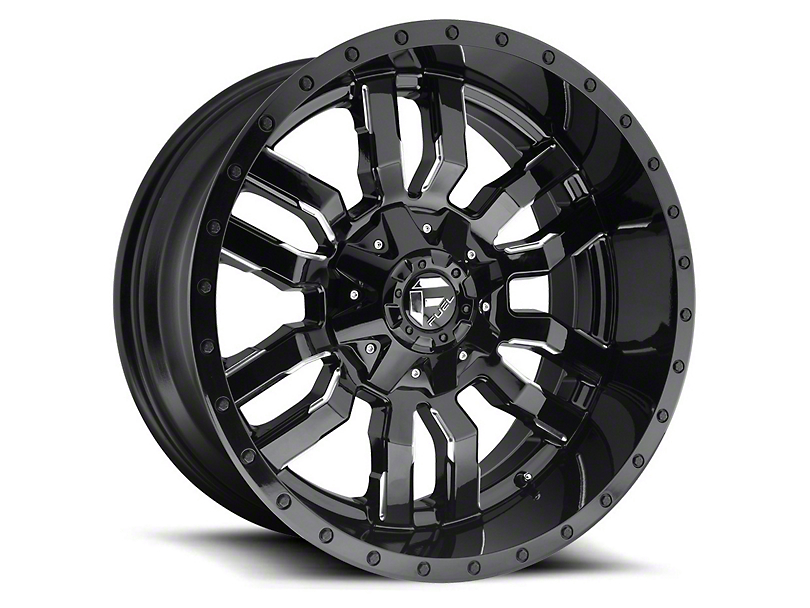 Fuel Wheels Sledge Gloss & Matte Black 5-Lug Wheel - 22x12 -44mm Offset (02-18 RAM 1500, Excluding Mega Cab)