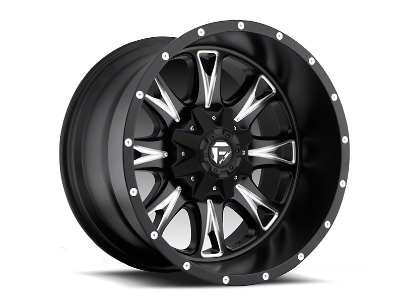 Fuel Wheels Throttle Black Milled 5-Lug Wheel - 22x14; -76mm Offset (02-18 RAM 1500, Excluding Mega Cab)