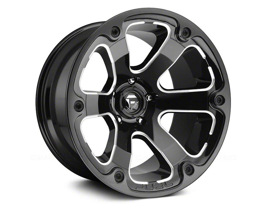 Fuel Wheels STRYKR Gloss Black Milled 5-Lug Wheel - 17x9 (02-18 RAM 1500, Excluding Mega Cab)