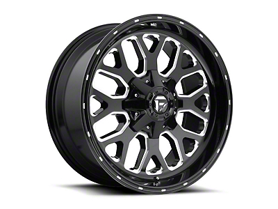 Fuel Wheels Titan Gloss Black Milled 5-Lug Wheel - 20x12 (02-18 RAM 1500, Excluding Mega Cab)