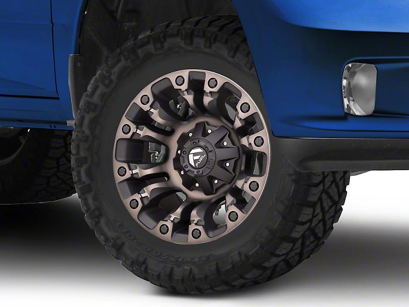 Fuel Wheels Vapor Matte Black Machined 5-Lug Wheel - 17x9 (02-18 RAM 1500, Excluding Mega Cab)