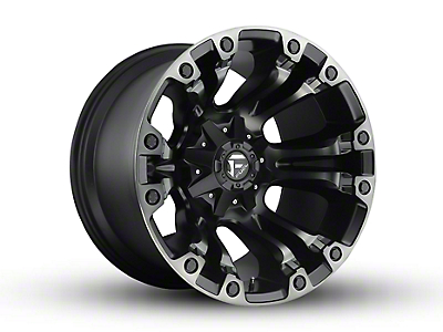Fuel Wheels Vapor Matte Black Machined 5-Lug Wheel - 20x12 (02-18 RAM 1500, Excluding Mega Cab)