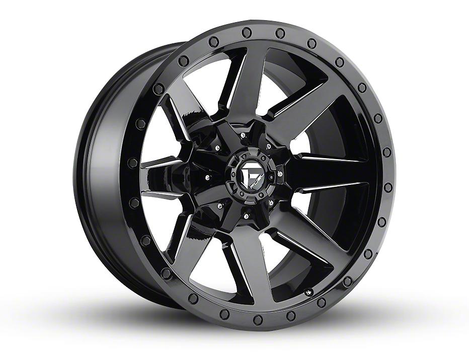 Fuel Wheels Wildcat Gloss Black Milled 5-Lug Wheel - 20x10 (02-18 RAM 1500, Excluding Mega Cab)