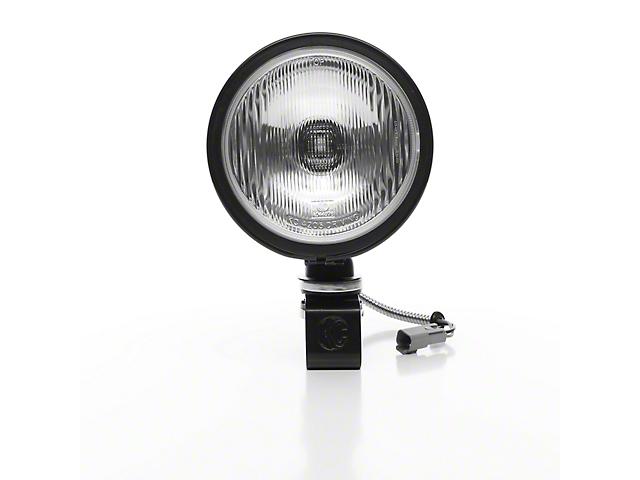 KC HiLiTES 6-Inch Black Daylighter Round Halogen Light; Spread Beam