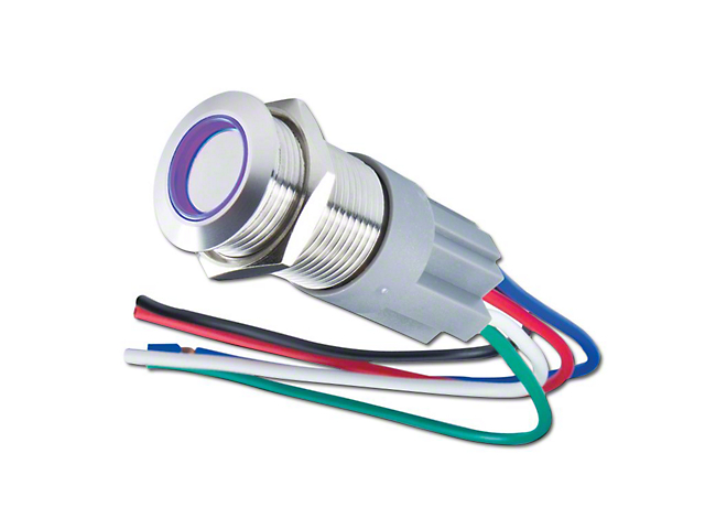 Oracle Pre-Wired Momentary Style Flush Mount LED Switch - UV/Purple (02-19 RAM 1500)