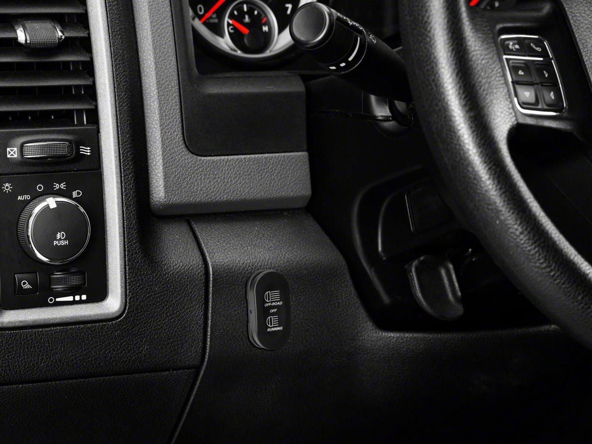 Rugged Ridge 3-Position Rocker Switch w/ Off-Road/Running Light Logo  (Universal Fitment)