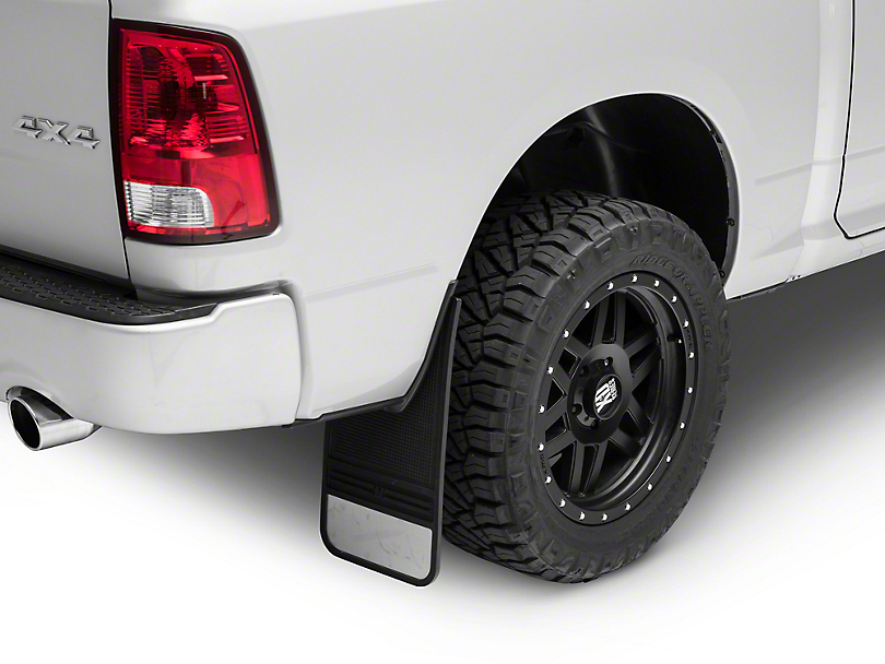 Husky MudDog Rear Mud Flaps w/ Stainless Steel Weight (02-19 RAM 1500)