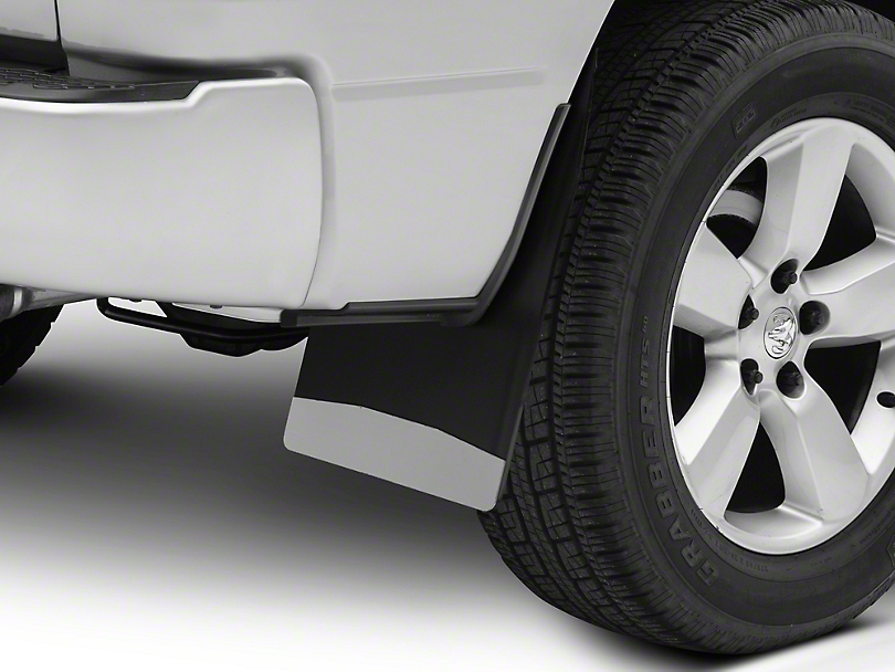 Husky 14 in. Wide Mud Flaps - Stainless Steel Weight (02-19 RAM 1500)