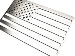 Stainless Steel American Flag Emblem - Polished - Driver Side Only (Universal Fitment)