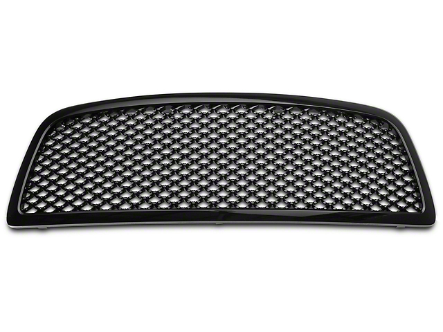 Mesh Upper Replacement Grille; Black (09-12 RAM 1500)