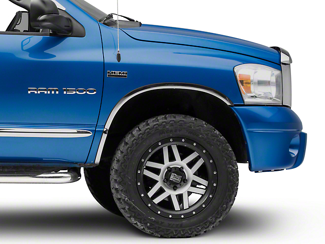 Wheel Well Accent Trim; Stainless Steel (02-08 RAM 1500)