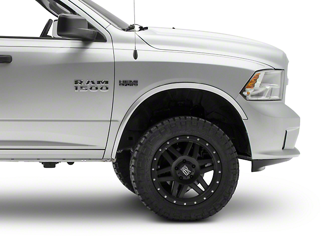 Wheel Well Accent Trim; Stainless Steel (09-18 RAM 1500)